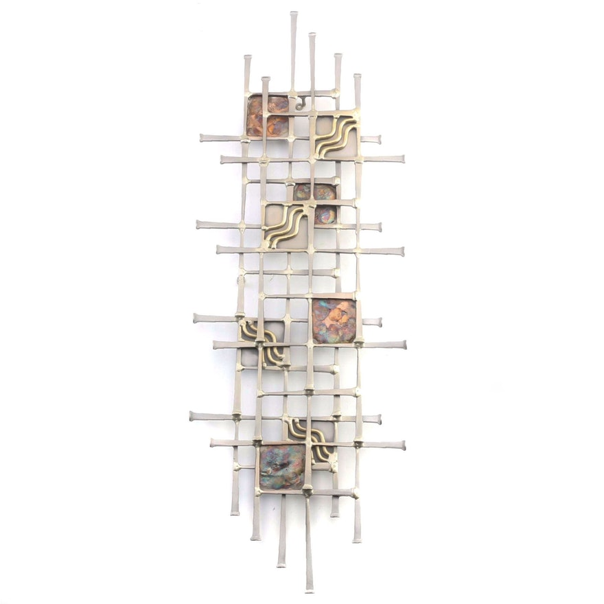 "Ron Schmidt ""Candle"" Wall Art of Welded Square Headed Nails"