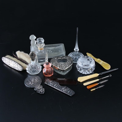 Sterling, Bakelite, Crystal and More Vanity Accessories, Early/Mid 20th C.