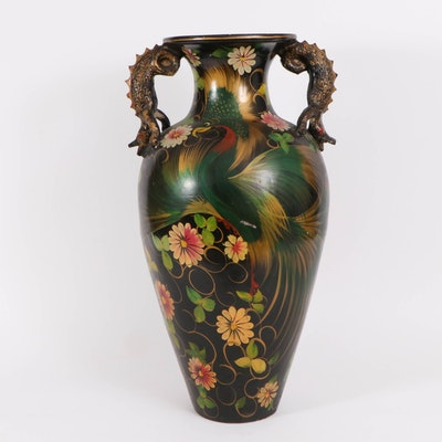 Central American Hand-Painted Floor Vase