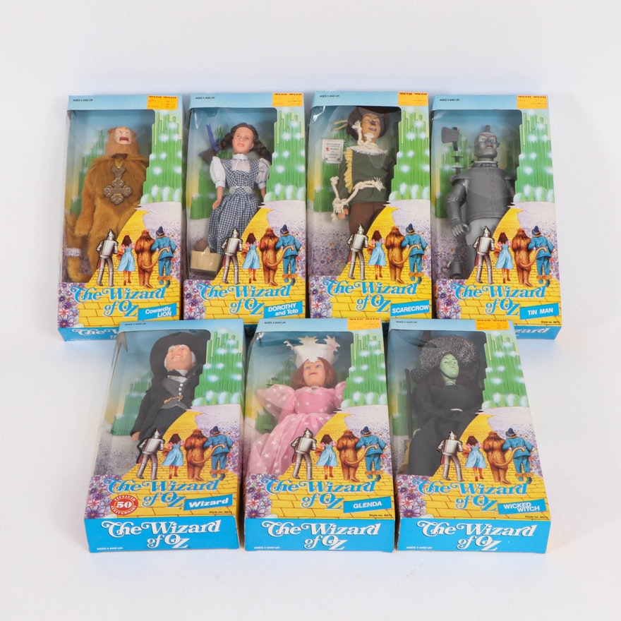 """Multi-Toys """"Wizard of Oz"""" 50th Anniversary Doll Set in Original Boxes, 1988"""