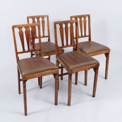 """Leg-O-Matic"" Folding Dining Chairs"