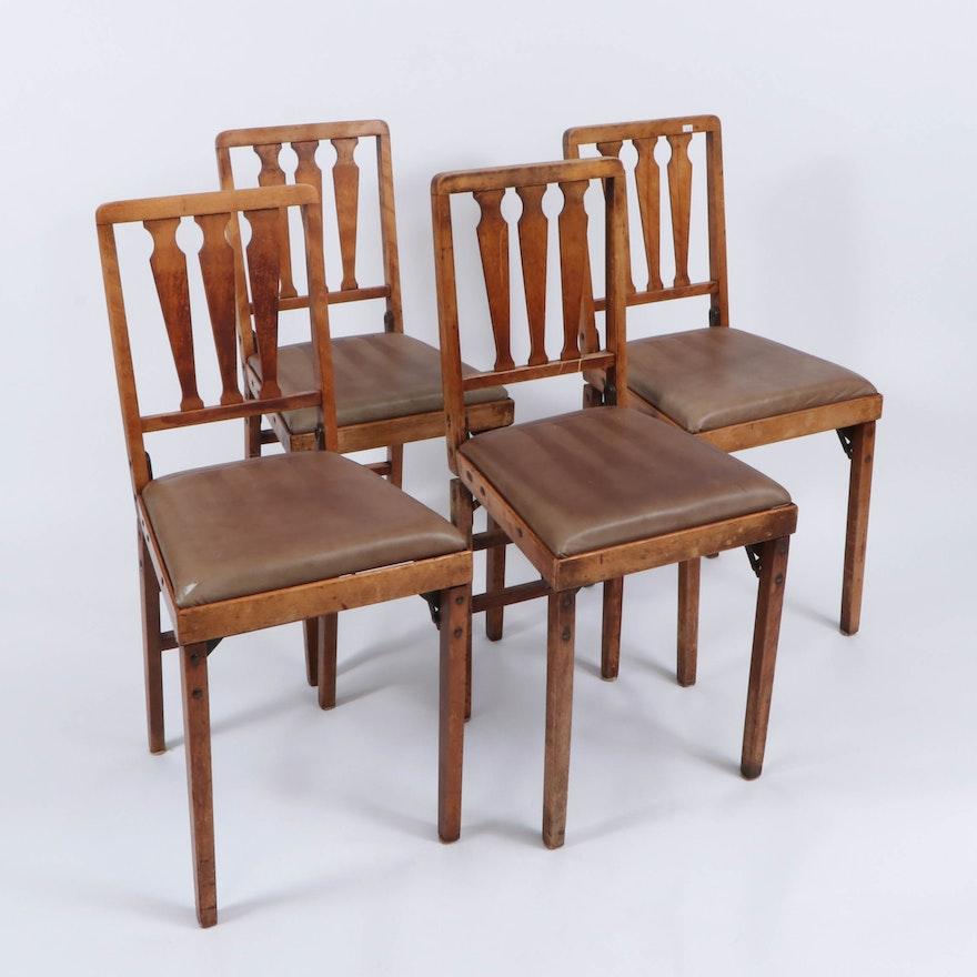 """Leg-O-Matic"" Folding Dining Chairs"