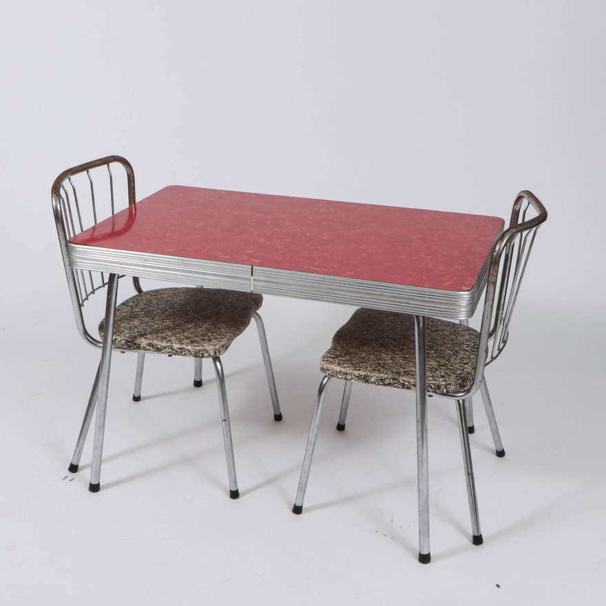 Diner Style Childrens' Table and Chairs, Mid to Late-20th Century