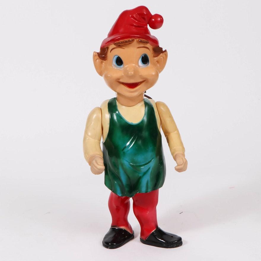Union Blow Mold Illuminated Christmas Elf Figure, Mid-20th Century