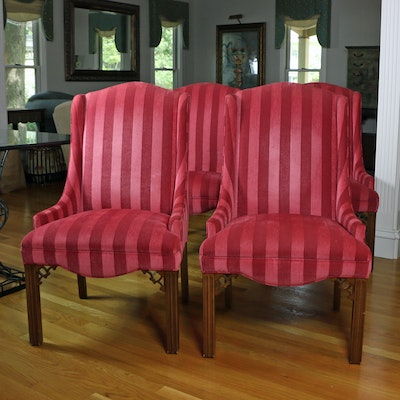 Four Style Upholstering Chippendale Style Upholstered Side Chairs