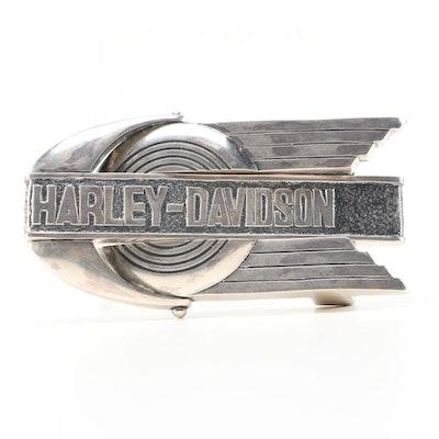 Sterling Silver Harley-Davidson Belt Buckle