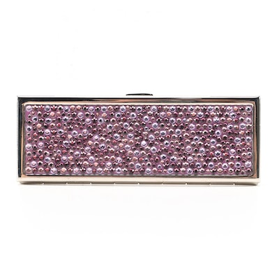Judith Leiber Crystal Embellished Compact Mirror