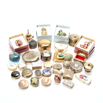 Trinket Boxes, Pill Boxes, and Other Collectible Containers, 20th Century