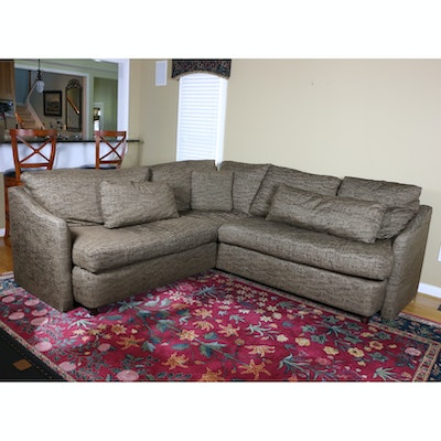 Kravet Furniture Sectional Sofa with Down Cushions