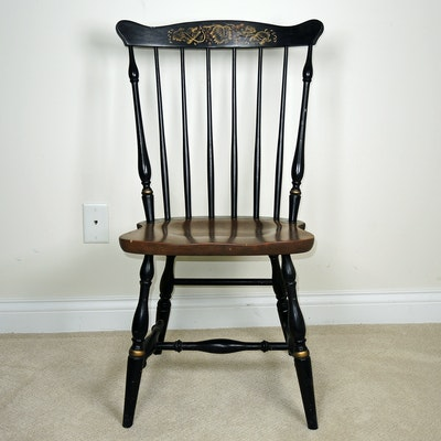 L. Hitchcock Stenciled Chair, Mid-20th Century