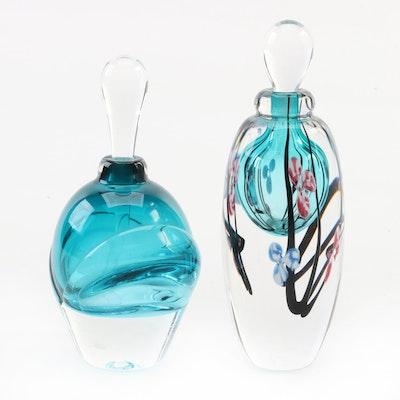 R. Jindelman and Other Handblown Art Glass Perfume Bottles, Late 20th Century
