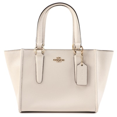 Coach Crosby 21 Carryall Handbag in Off-White Saffiano Leather