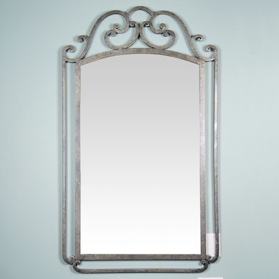 Wrought Metal Rectangular Wall Mirror