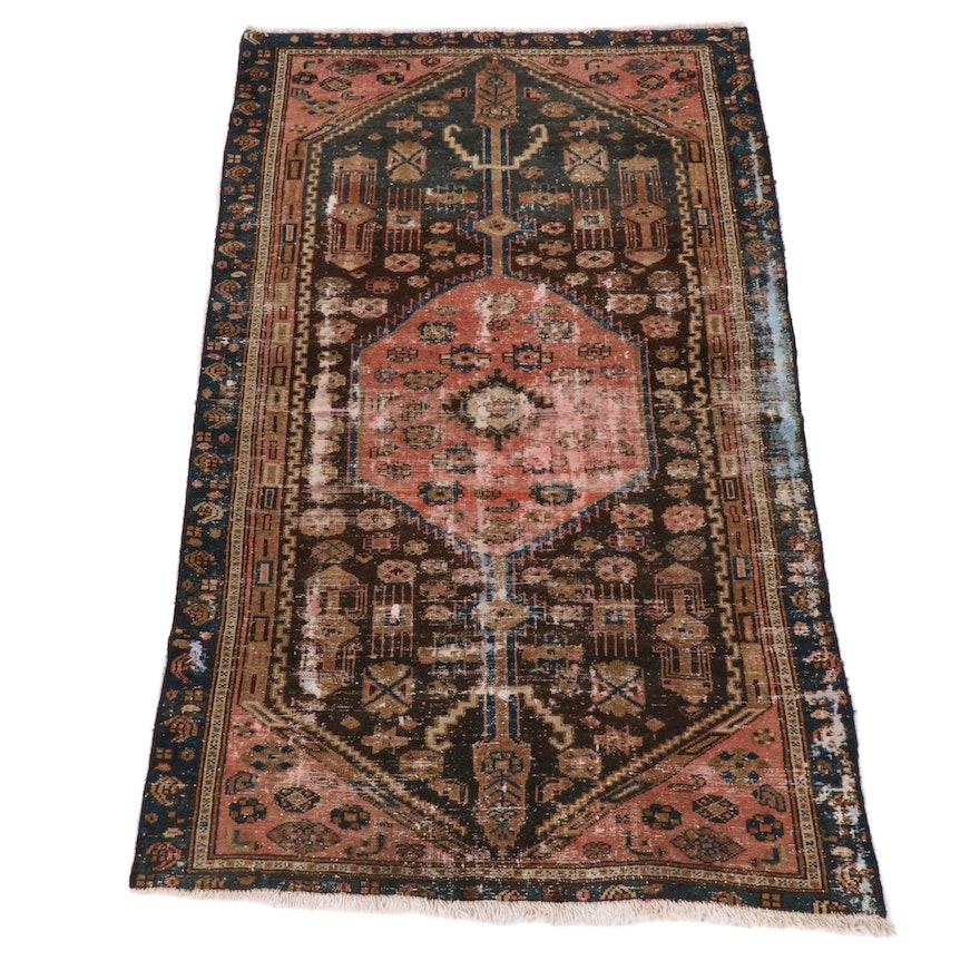 3'8 x 6'3 Hand-Knotted Northwest Persian Rug, 1920s