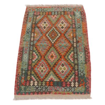 3'5 x 5'4 Handwoven Turkish Caucasian Kilim Rug, 2010s