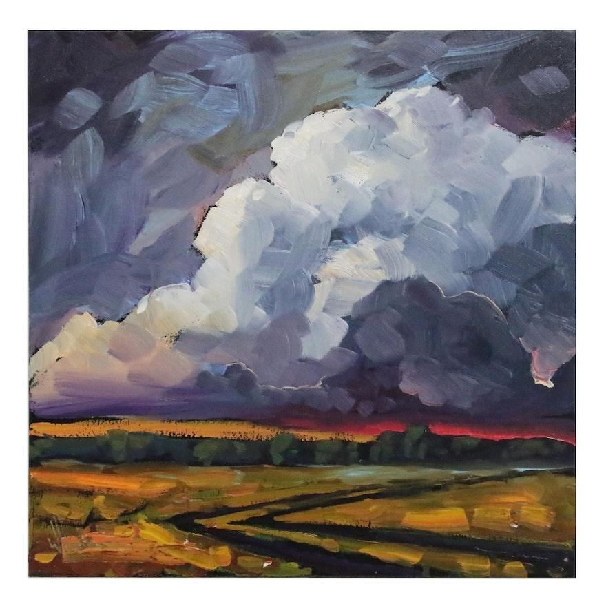 William Hawkins Pastoral Landscape Oil Painting, 21st Century