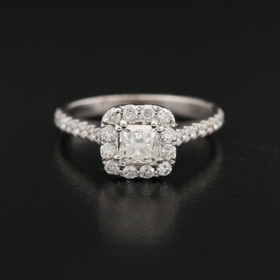 Neil Lane 14K 1.27 CTW Diamond Halo Ring