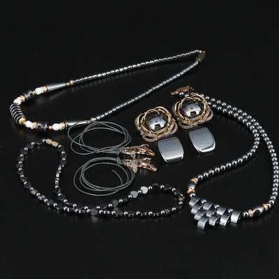 Assorted Hematite, Pearl and Glass Jewelry