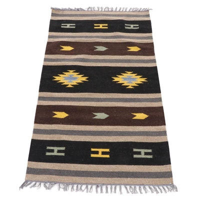 2'11 x 5'3 Handwoven Indo-Turkish Kilim Rug, 2000s