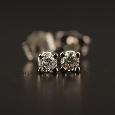 14K 0.16 Diamond Stud Earrings
