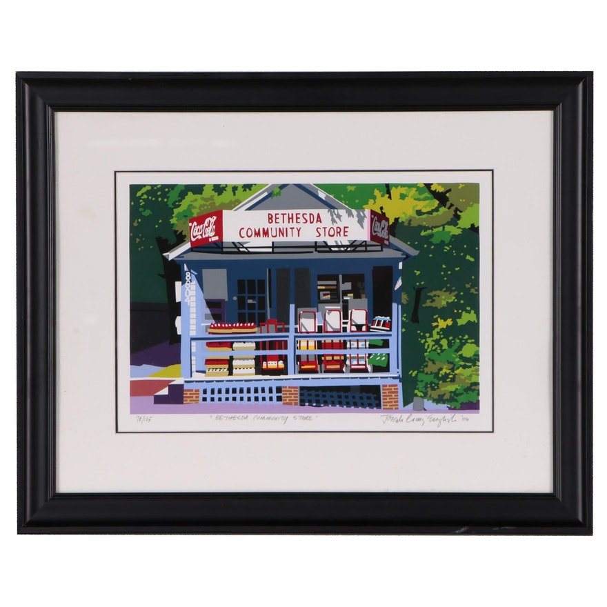 "Joseph Craig English Serigraph ""Bethesda Community Store"", 2006"