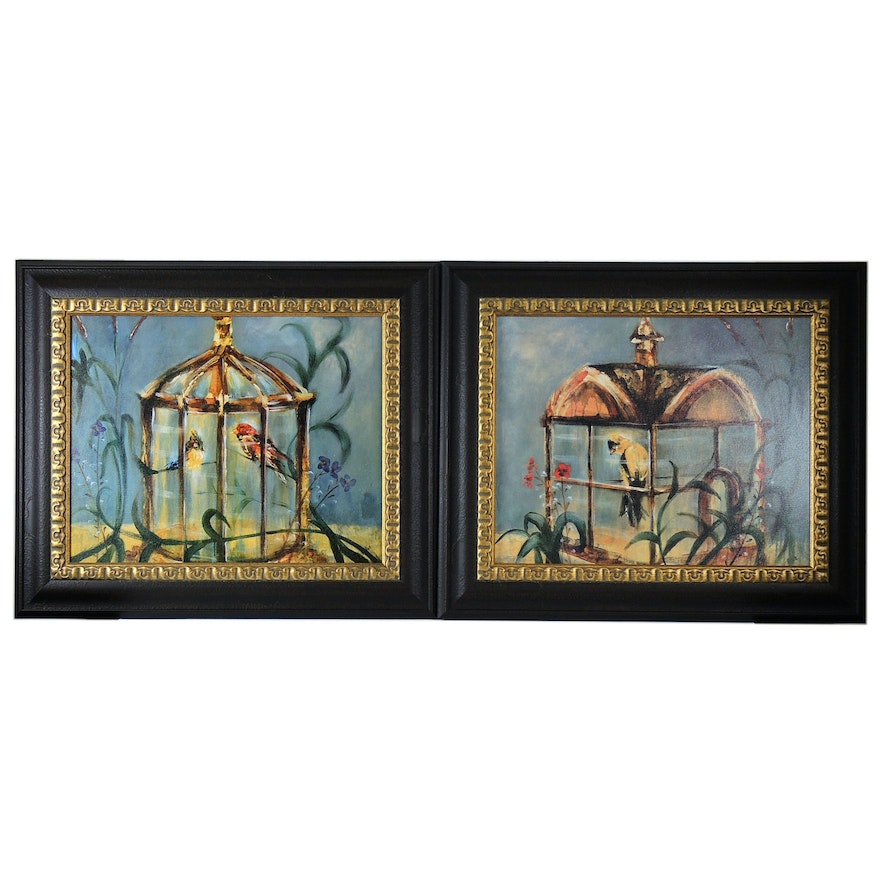 """Offset Lithographs after James Elliot """"Endemic Melody I and II"""""""