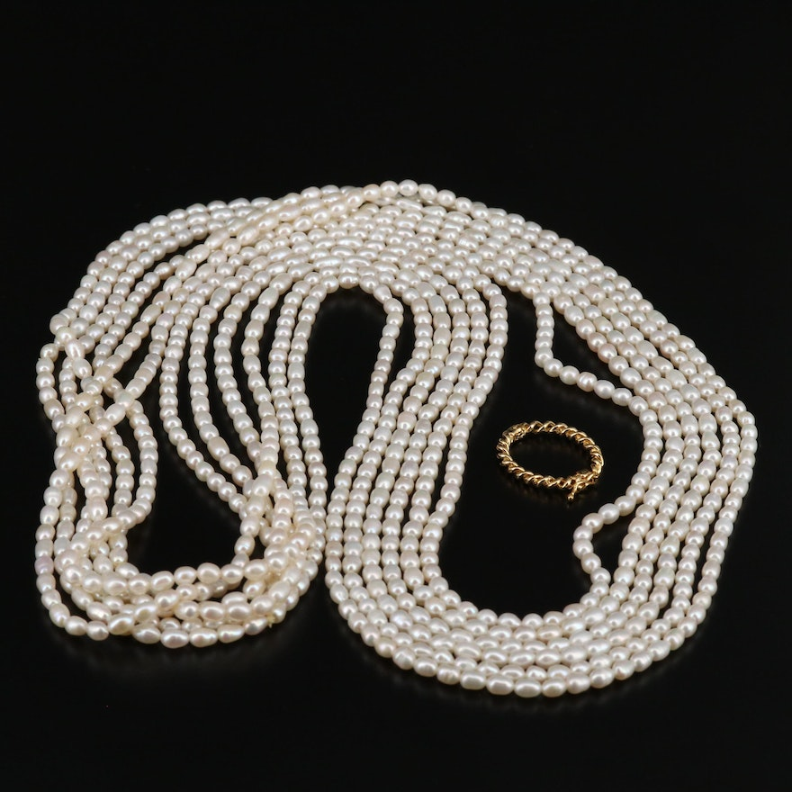 Endless Pearl Necklaces with Necklace Shortener