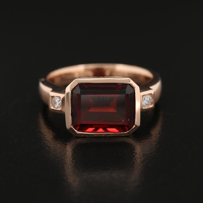 EFFY 14K Rose Gold Garnet and Diamond Ring