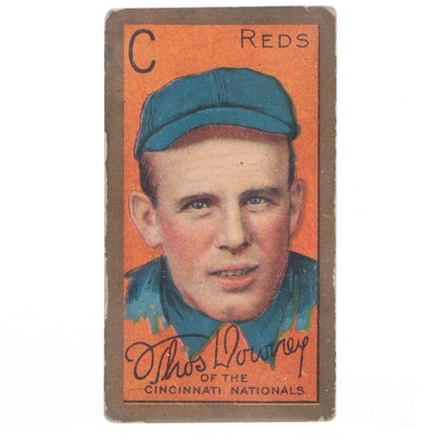 "1911Thomas Downey Cincinnati Reds Sweet Caporal Gold Border ""T205"" Baseball Card"