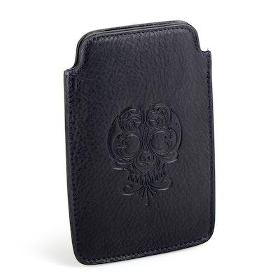 Stephen Webster Black Calfskin Leather iPhone Case