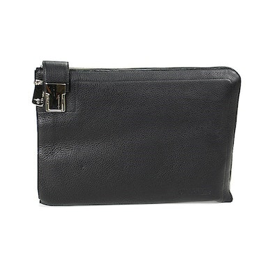 Men's Charriol Black Document Holder Bag