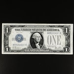 """High Grade Series of 1928-B $1 Silver Certificate, """"Funny Back"""" Variety"""