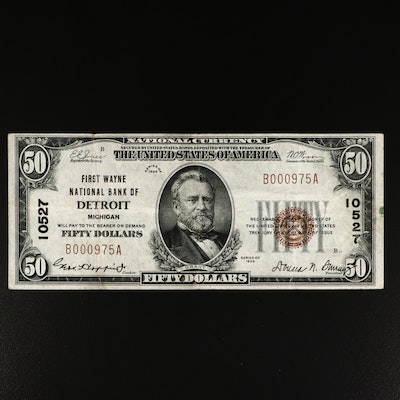 Series of 1929 $50 Brown Seal National Currency Note