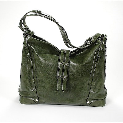Charriol Large Madrid Olive Green Bag