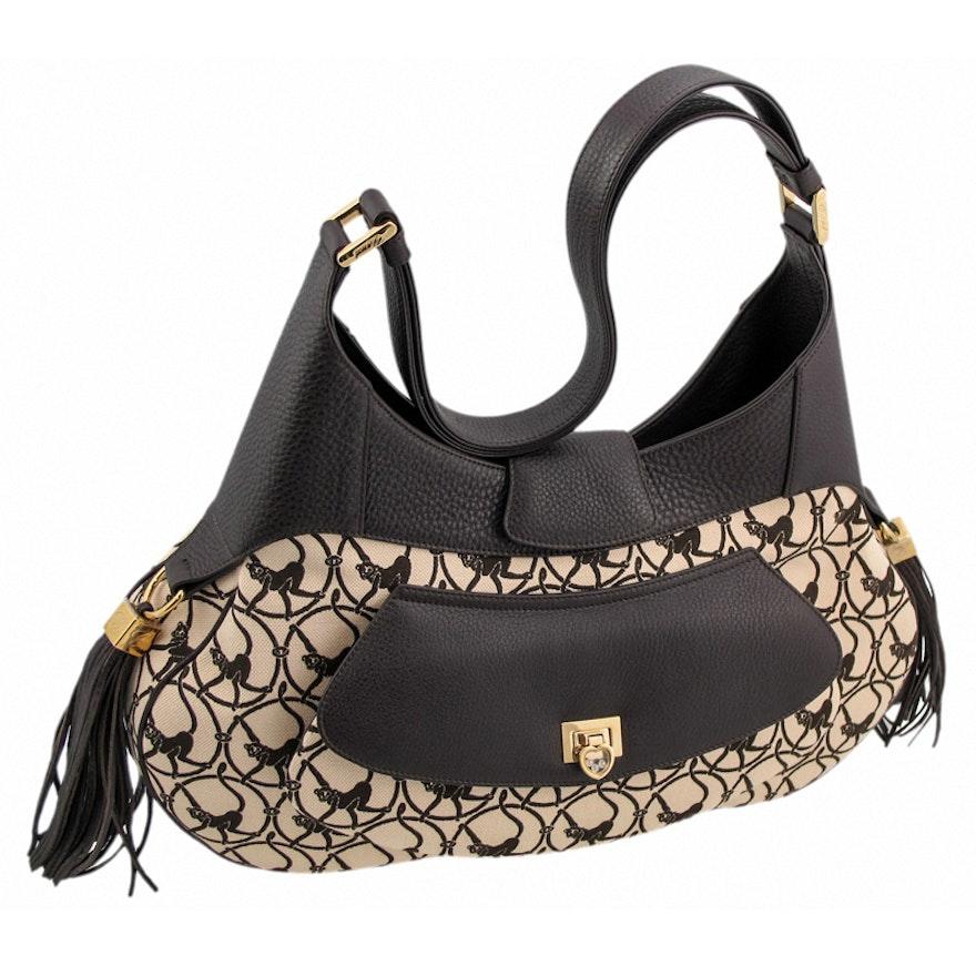 Chopard Mardrid Beige and Dark Brown-Colored Calfskin Leather Bag