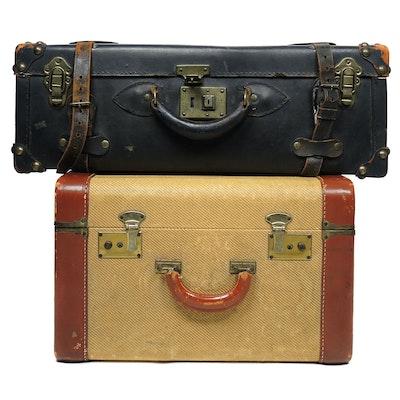 Hardside Suitcases, Mid-20th Century