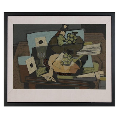 Still Life Serigraph after Georges Braque, Late 20th Century