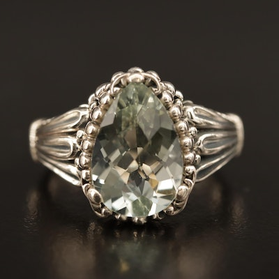 Sterling Silver Prasiolite Ring
