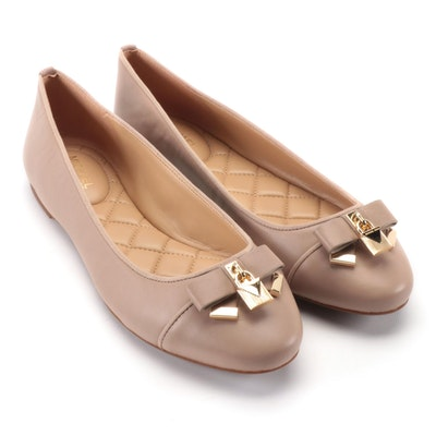 MICHAEL Michael Kors Alice Ballet Flats in Truffle Leather