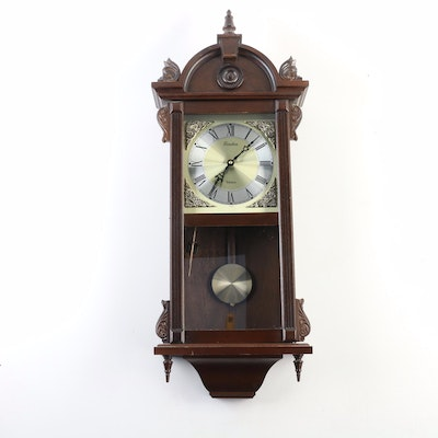 Linder Chime Pendulum Wooden Wall Clock, 20th Century