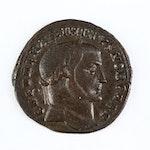 Ancient Roman Imperial AE Follis Coin of Maximinus II, ca. 305 A.D.