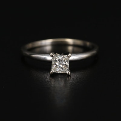 14K 0.39 CT Diamond Solitaire Ring
