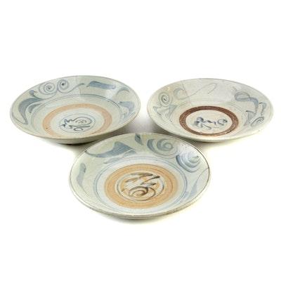 Chinese Zhangzhou (Swatow) Ware Stoneware Bowls, Ming Dynasty