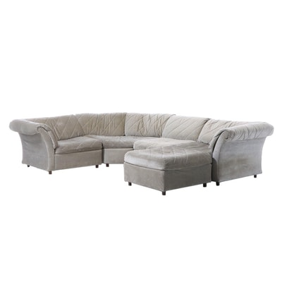Rowe Furniture Quilted Upholstery Sectional Sofa, Late 20th Century