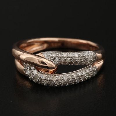 14K Interlocking Diamond Ring