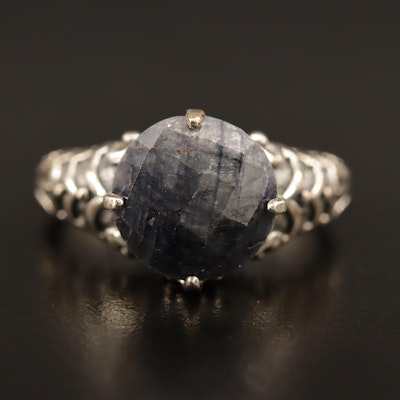 Sterling Corundum Ring