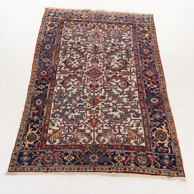 6'1 x 9'5 Hand-Knotted Persian Heriz Rug, circa 1920