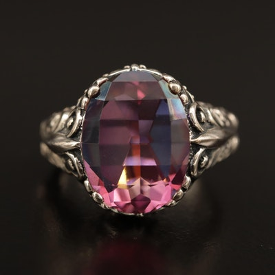Sterling Mystic Quartz Ring