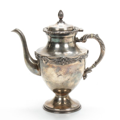 Sterling Silver Coffee Pot, Mid 20th Century