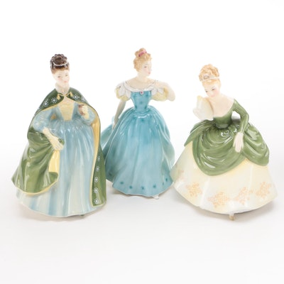 "Royal Doulton ""Soirée"", ""Enchantment"", and ""Première"" Bone China Figurines"